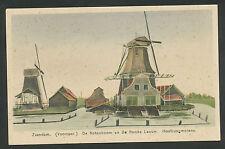 Zaandam (Voorzaan)  De Notenboom en de Roode Leeuw  Houtzaagmolens