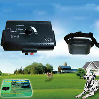 Electronic Fence Dog Collar Wireless Invisible Pet Fence System Waterproof New #