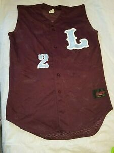 Rawlings Maroon  button-down sleeveless mesh jersey - adult L the mark of a PRO