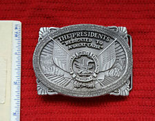 Vintage NRA The Presidents 1989 2nd Edition Annual Series Belt Buckle Pewter