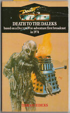 VERY RARE: Doctor Who - Death to the Daleks. Virgin blue spine. Target Books.