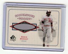 2001 SP AUTHENTIC #CC-EM EDDIE MURRAY GAME-WORN JERSEY CARD - ORIOLES, HOF