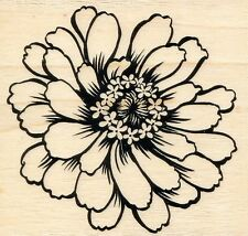 Zinnia  Q170  STAMPENDOUS RUBBER STAMP   w/m  Free Shipping   NEW