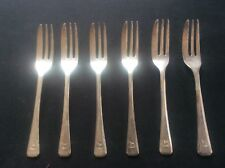 Antique Set 6 PORT Shipping Line Silver Plated Cake Forks ELKINGTON & Co Plate