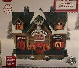 2020 Holiday Time Collectible Alpine Hunting Lodge NEW IN BOX