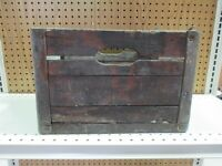 Antique 1940's WOOD & METAL MILK DAIRY CRATE Sunny Hill Dairy Cape Girardeau, Mo