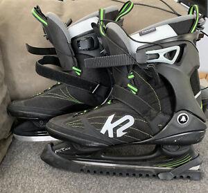 MENS K2 F.I.T. ICE Pro Hockey Skates US 14 Soft Boot Black Worn
