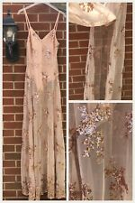 ASOS Naanaa Nude Rose Gold Sequin Embellished Strappy Maxi Dress Size 10