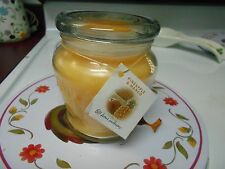 "Home Interiors 15 Ounce ""Pineapple Mango"" Scented Jar Candle New"