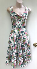 "Revival / Dangerfield Vintage Style ""coastal Floral Dress"" Sz 10"