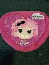 Lalaloopsy Sew Sweet Crumbs Sugar Cookie Plush Backpack Heart Shaped Bag School