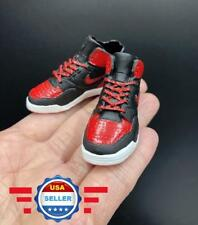 CUSTOM 1/6 Black Red Sneakers Shoes HOLLOW for 12'' FEMALE Action Figure Doll