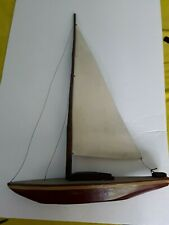 Palecek Red Wooden Sailboat Wood Rustic Country Home Decor