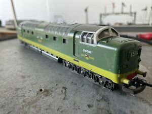 """Lima Class 55 Deltic D9003 """"Meld"""" In Two Tone Green OO Gauge"""