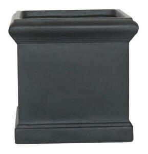 IDEALIST Victorian Box Square Light Stone Outdoor Planter with Drainage Hole
