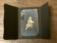 Antique Tin Type Photo Pictures, Photography baby Boy Smiling On Card