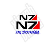 Mass Effect N7 pegatina de vinilo calcomanía Logo Renegade Paragon moralidad Mac Auto Ipad