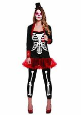 Womens Adult Gothic Day Of The Dead Halloween Fancy Dress Costume UK 8 - 12