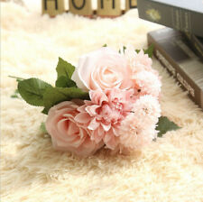 Artificial Rose Peony Silk Flower Bouquet Home Floral Wedding Party Garden Decor