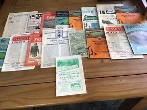 17 x 1950,s Football Programmes.