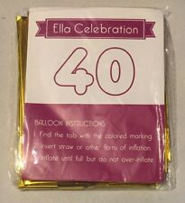 40 Gold Number Balloons 40� Birthday Party Supplies Anniversary Foil Balloon New