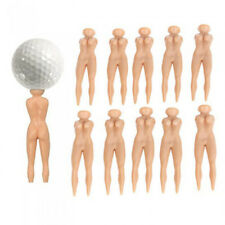 10Pcs Nude Lady Shape Golf Tees Naked Design Golfers Sports Ball Holder Noted