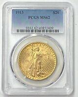 1913-P $20 Saint Gaudens Gold  Pre-33 PCGS MS62 Crazy Low Mintage 168,780