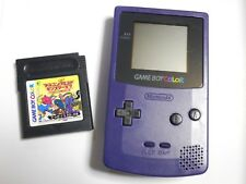 Game Boy Color Purple Handheld System Nintendo GameBoy Color With Game