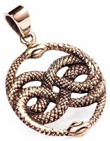 Aurin Schlangen Anhänger Bronze Symbol Schmuck - NEU