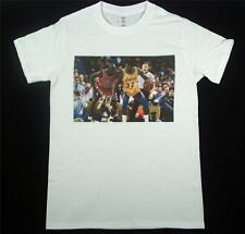 Michael Jordan Magic Johnson Camiseta Blanca S-xxxl Bulls Lakers Nba Baloncesto