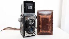 Vintage ZEISS IKON IKOFLEX 6x6 reflex bi-objectif moyen format appareil photo avec étui