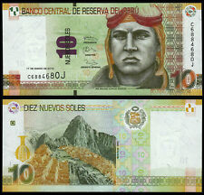 PERU 10 NUEVOS SOLES (P187) 2013 UNC