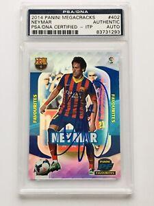 2014 Panini Megacracks Neymar Jr. Signed Auto Card PSA DNA Slabbed ITP  #402 🔥