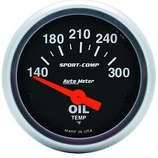"""Auto Meter 3348 Sport Comp Electric Oil Temperature (Temp) Gauge 2 1/16"""""""