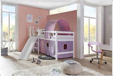 Tony Emily Hochbett Kinderbett  mit Rutsche teilbar weiß buche Eliyas V1
