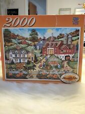 Cottage picking the perfect Pumpkin 2000 Piece Puzzle - Bonnie White