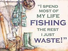 My Life Fishing, Tackle Rods Reel Angling, Funny Gift, Novelty Fridge Magnet
