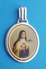 Maria Gottesmutter Madonna 925 Sterling silber Ketten-Anhänger Capochon Oval NEU