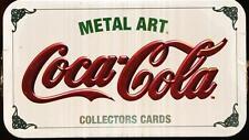 1994 COKE COCA-COLA METAL ART COLLECTOR TIN (20 METAL CARDS)