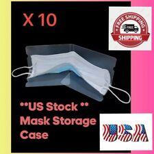 US stock 10pcs Portable Mask Storage Clip Folder Foldable Mask Storage Box Clip