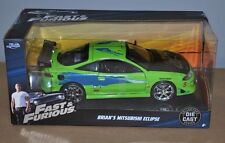 Jada Brian's Mitsubishi Eclipse Fast and Furious Die Cast Car 1/24 97603 BNIB
