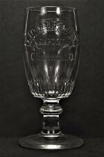 Pre-prohibition embossed beer glass Lion Brewery Cincinnati O.