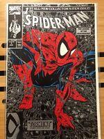 "Spiderman 1  Silver/Black Print  (1990) ""Torment"" McFarlane  NM  Nice Addition"