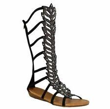 Faux Suede Upper Standard (B) Floral Heels for Women
