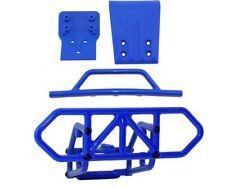 RPM Traxxas Slash 4X4 Blue Front and Rear Bumper Kit 80122 80022