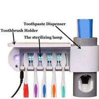 Automatischer Zahnpastaspender UV-Licht Zahnbürstenhalter USB Wand Sterilisator