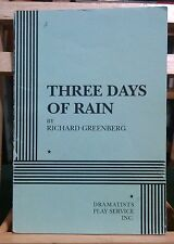 Three Days of Rain - Acting Edition  by Richard Greenberg  (Author)