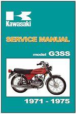 KAWASAKI Workshop Manual G3SS 1971 1972 1973 1974 & 1975 Service & Repair