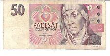 1997 Ceska Czech Republic Note 50 Padesat Korun Note Gorgeous Note !
