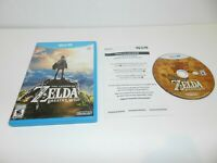 Legend of Zelda Breath of the Wild Nintendo Wii U Game Complete CIB Tested